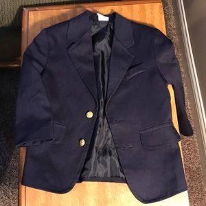 Boys size 24M suit coat navy with gold buttons
